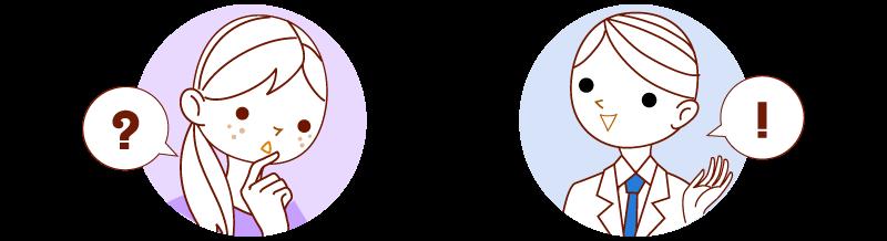 シミ治療の流れ - 診断・カウンセリング